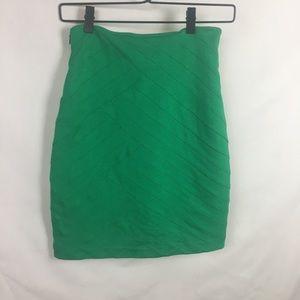 Express Green Size 2 Bandaged Skirts